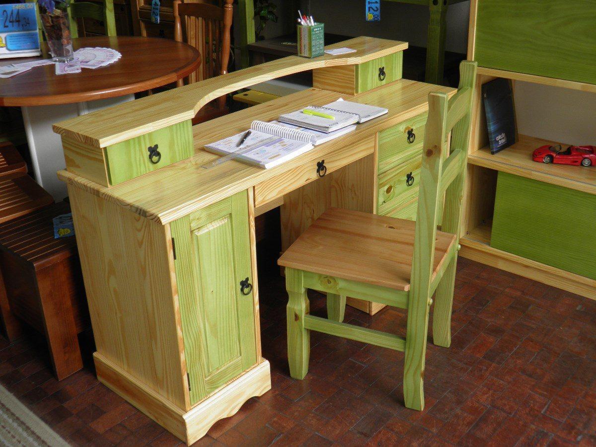 Escrivaninhaescrivaninha Em Madeirarusticamoveis Em Madei  R 69800 em Mercado Livre