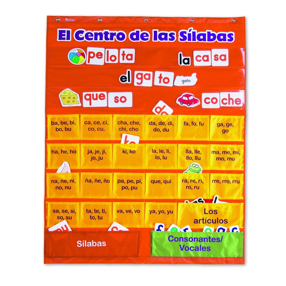 Espanol De Recursos De Aprendizaje Silabas Bolsillo Carta