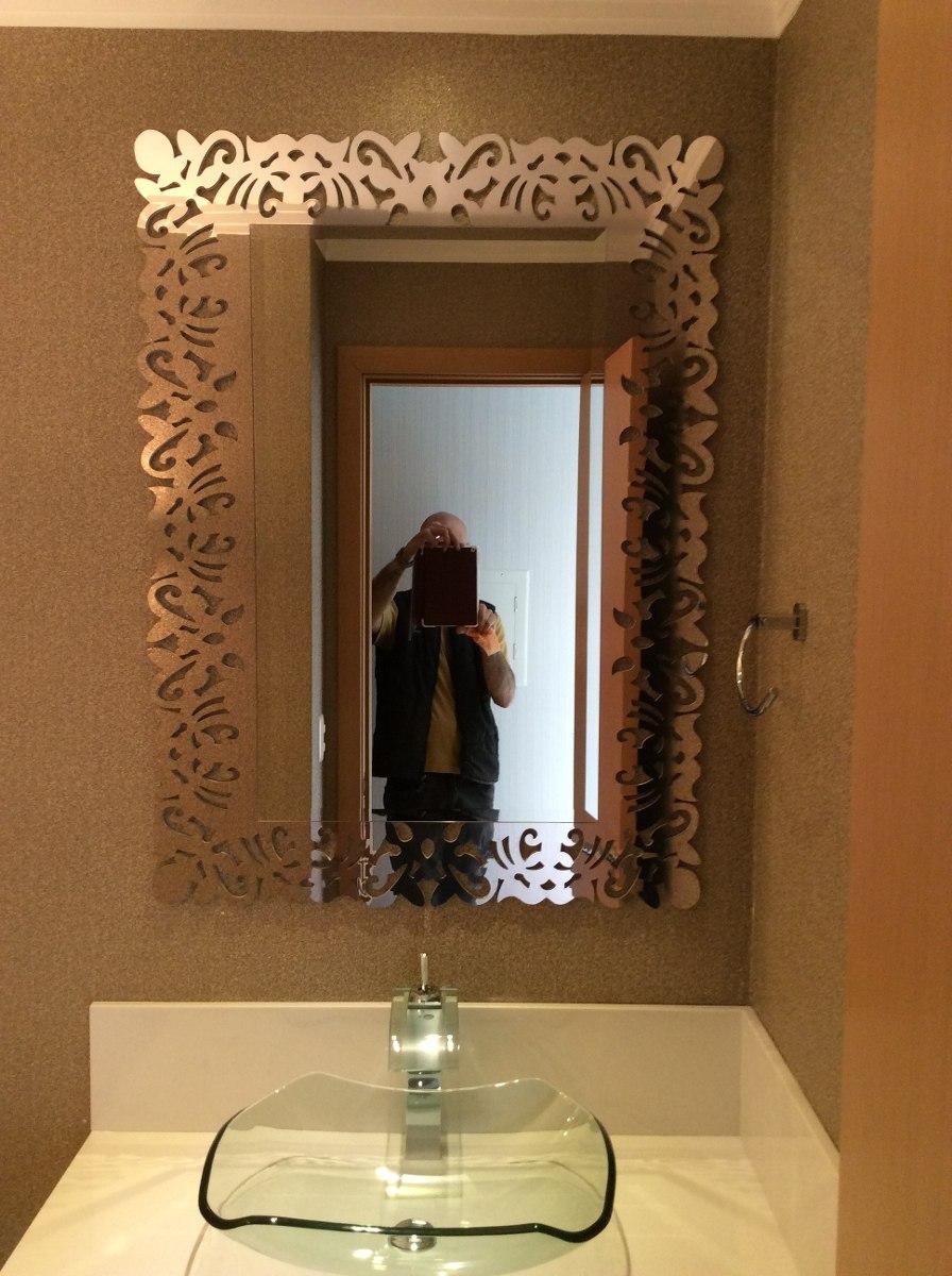 Espelho Bisote Decorado Para Banheiro Quarto Etc  R