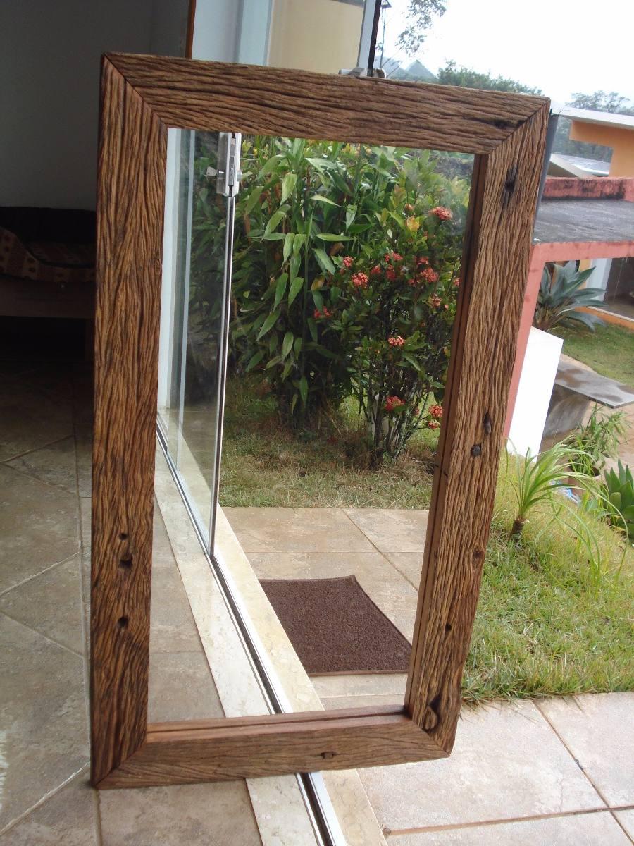 Espelho Moldura Rstica Envelhecida Naturalmente  R 430