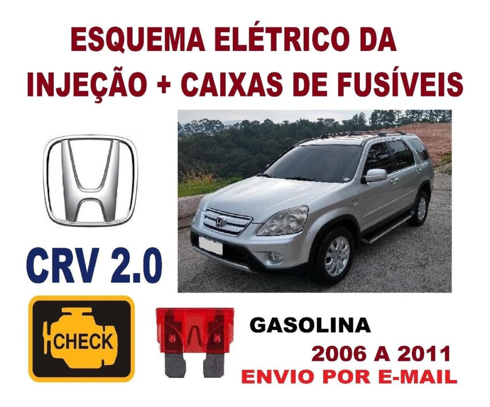 medium resolution of esquema el trico inje o fus honda crv 2 0 gasoli 2006 11 r 33 00 em mercado livre