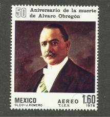 Estampilla Alvaro Obreg . - 29.00 En Mercado Libre