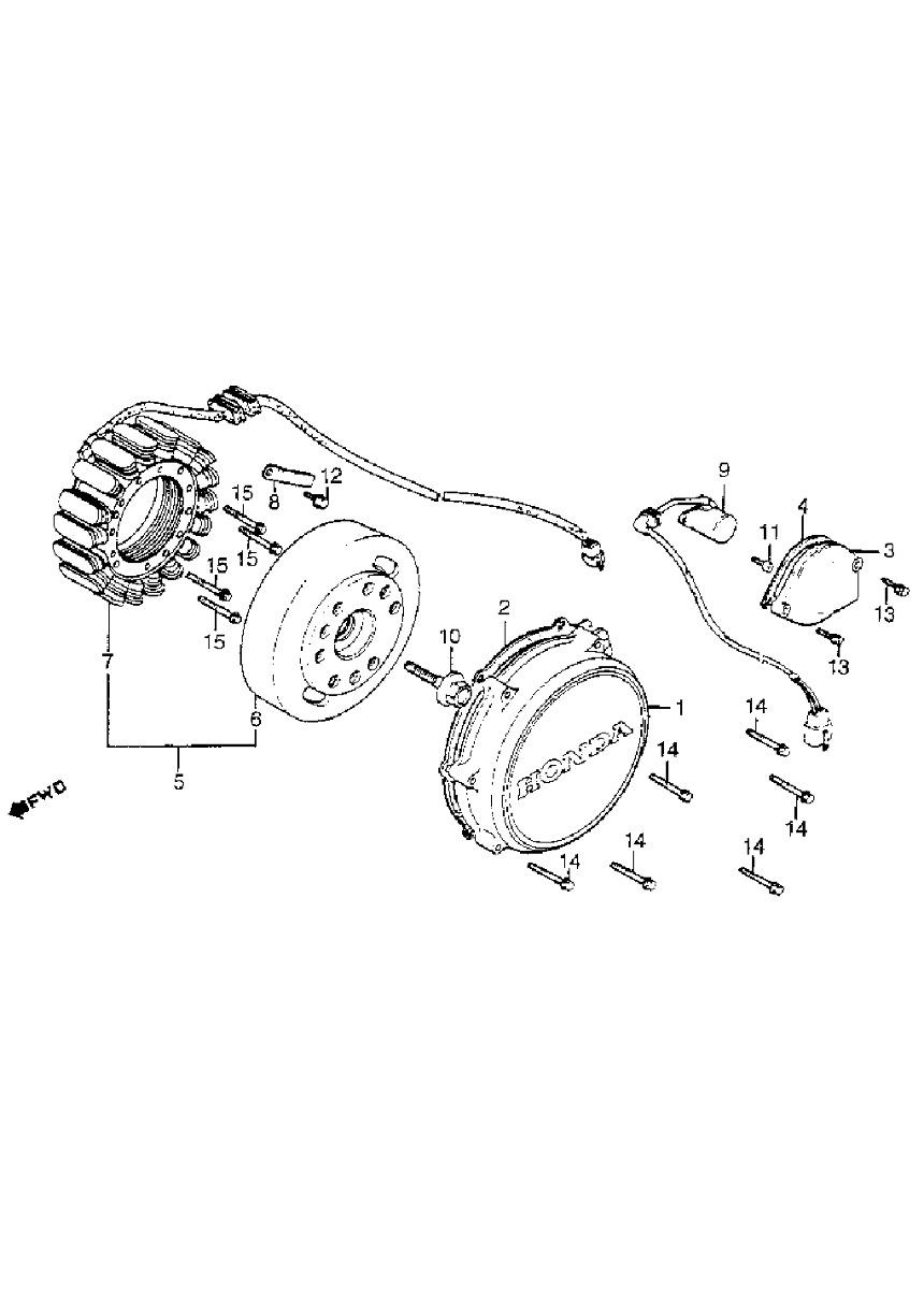 Estator Honda Magna Vf 750c Vf750c Vf 750 C 82 Y 83