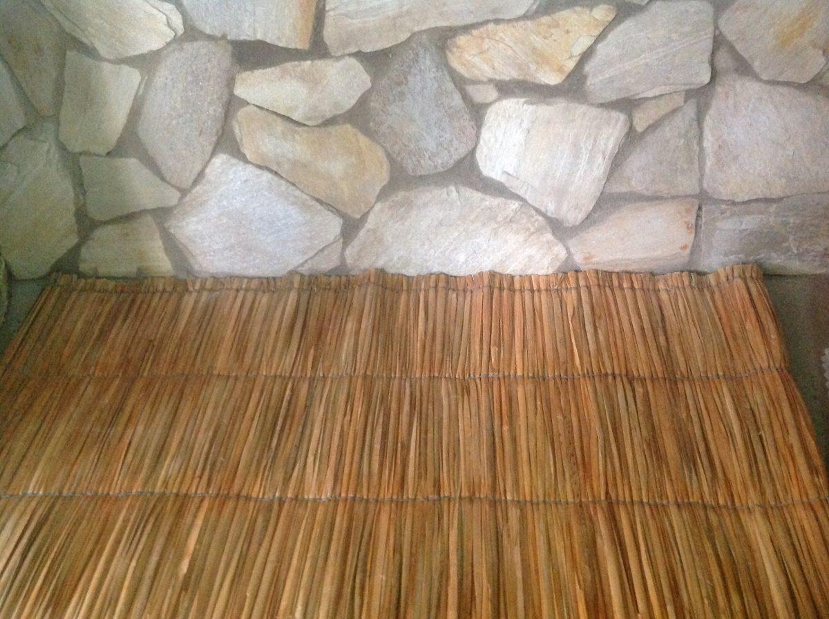 Esteira Palha Natural R 250 Stica Cobertura Pergola Ler