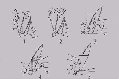 Faca Cartão Acabamento Em Metal Canivete Dobrável