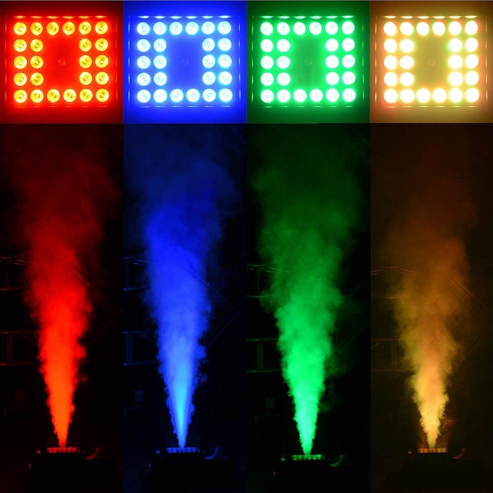 Fiesta Luces Humo E Iluminacion Efecto De Colores