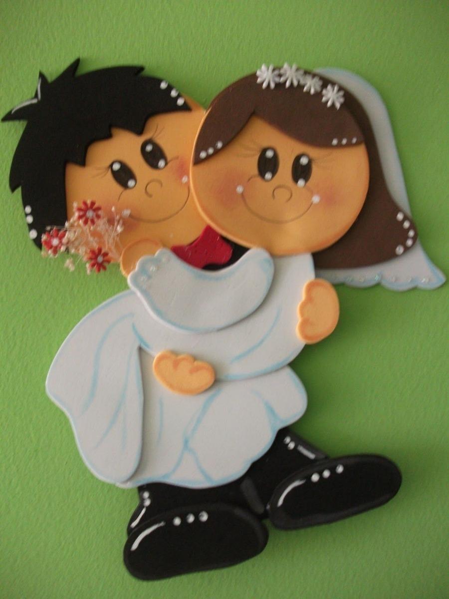 Figuras En Foami Novios Matrimonio Enamorados Parejas
