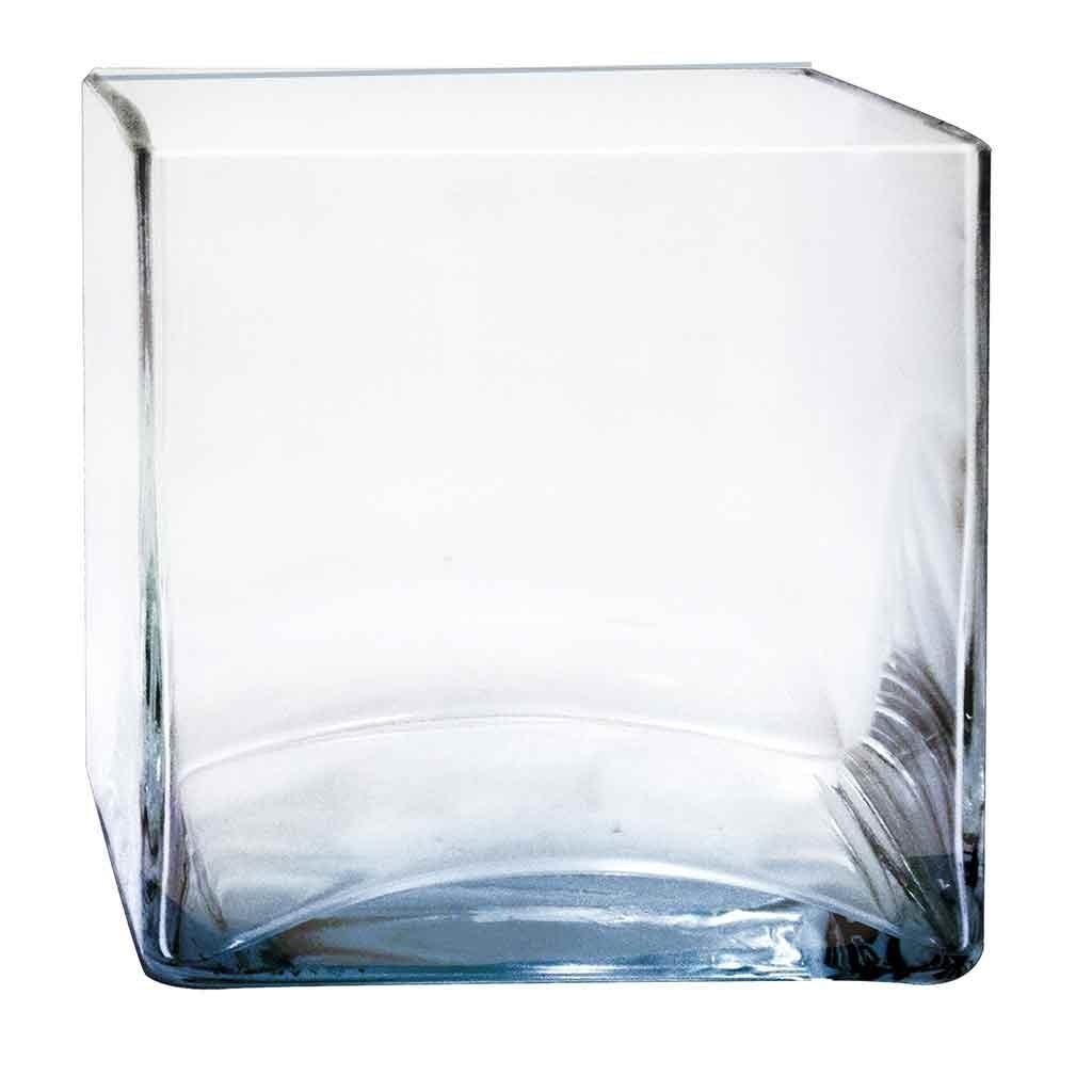 Florero Cuadrado Vidrio Cristal Prinz   37300 en Mercado Libre