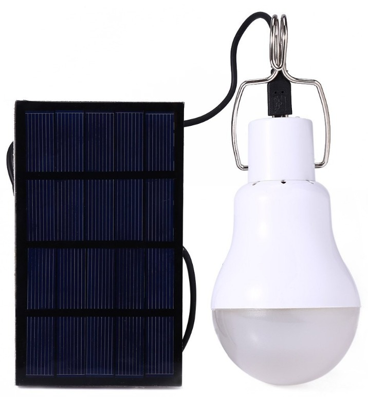 Foco Led Recargable Con Panel Solar Emergencias Campismo   18700 en Mercado Libre