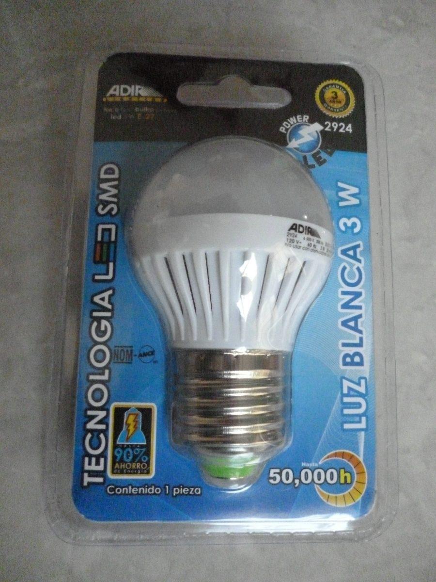 Foco Luz Led 3 W Bulbo Fro Clido Ahorrador Ecolgico Casa   1900 en Mercado Libre
