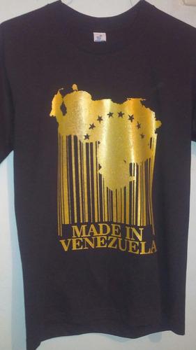 Franela Estampado Venezuela  Bs 450 en Mercado Libre