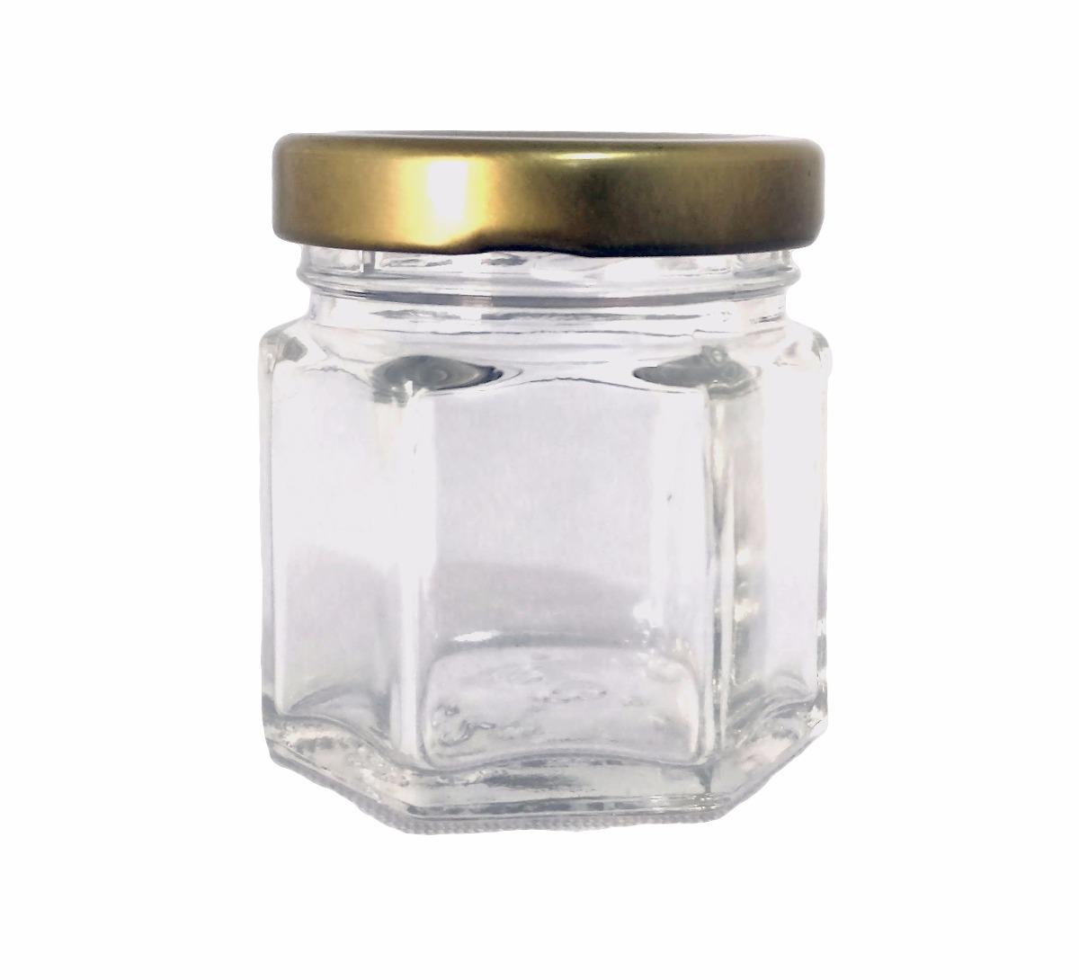 Frasco Vidrio Mini Hexagonal 45 Ml 100 Pz Recuerdo Boda Xv   99876 en Mercado Libre