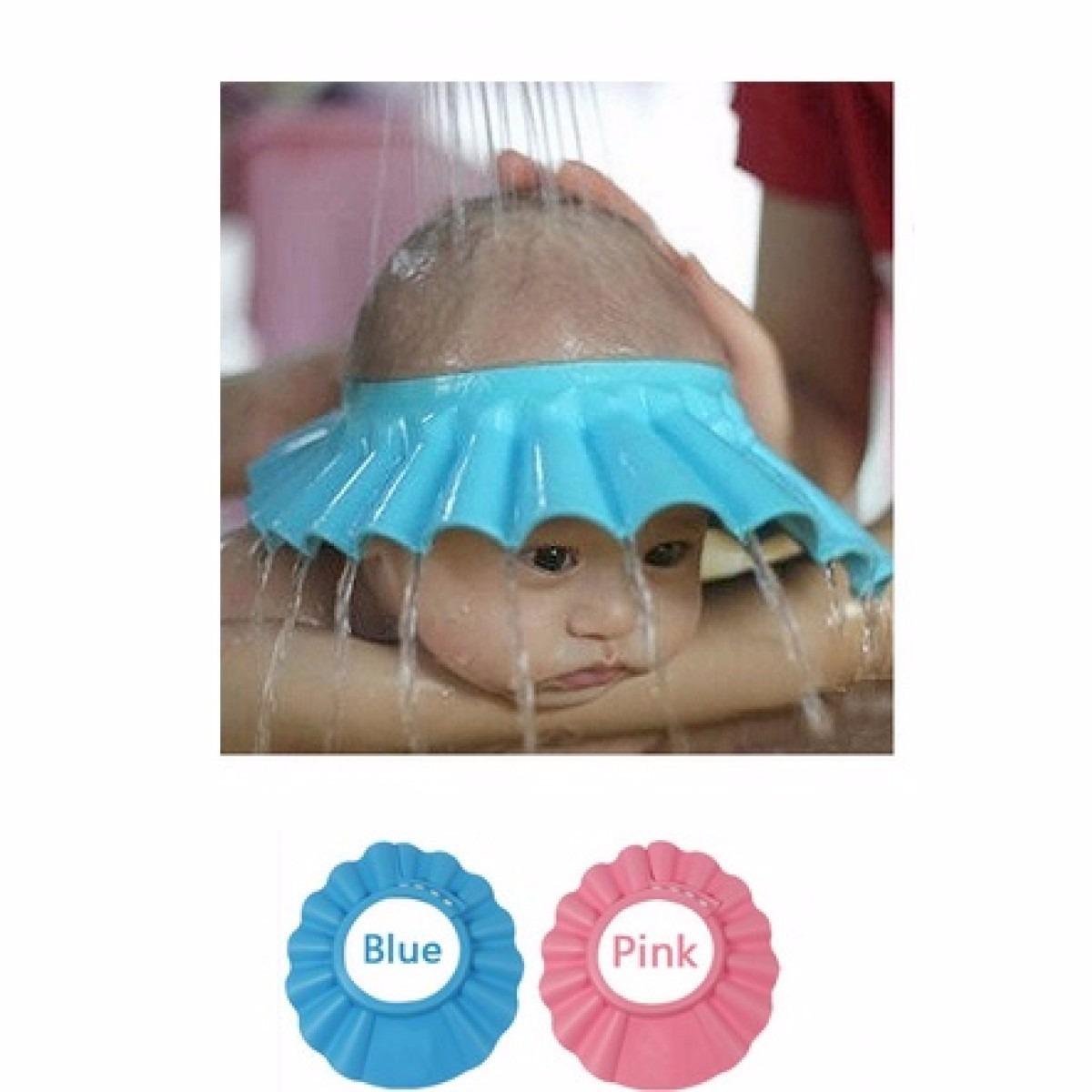 Gorro Visera De Ducha Baño Para Bebe Niño Protección Ojos 02d256fb576