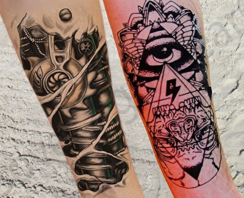 Grandes Tatuajes Temporales Chicos Hombres Pegatinas Tatuaje