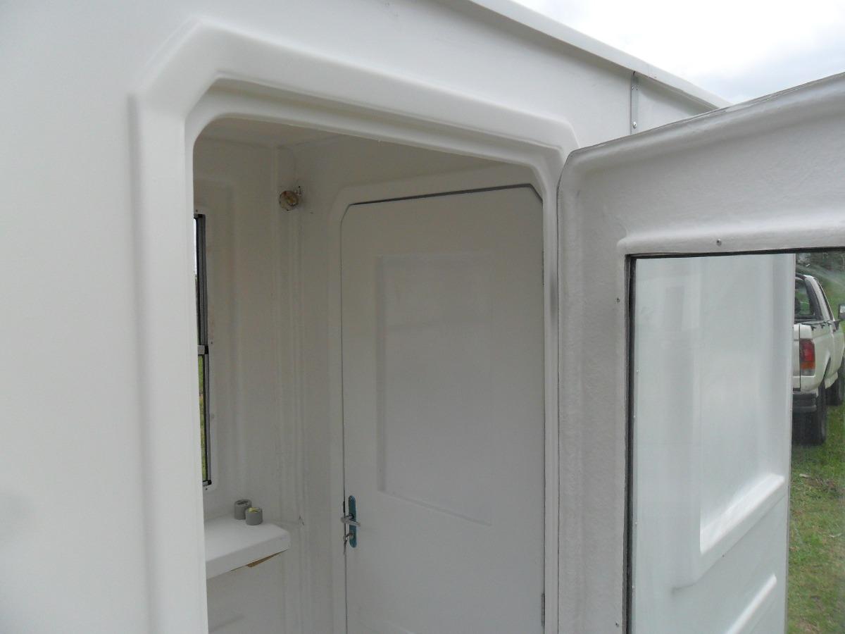 Guarita Com Banheiro Em Fibra De Vidro 120 X 240 X 220m