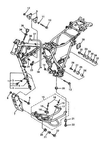 Guia Protetor Da Corrente Yamaha Xt 600 E Xtz 750 S Tenere