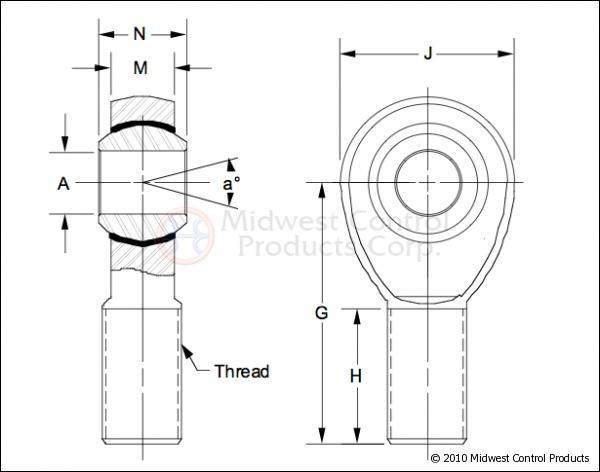 Heim Joint Aurora Rotula Johnny 1 1/4 Rockcrawler Buggy