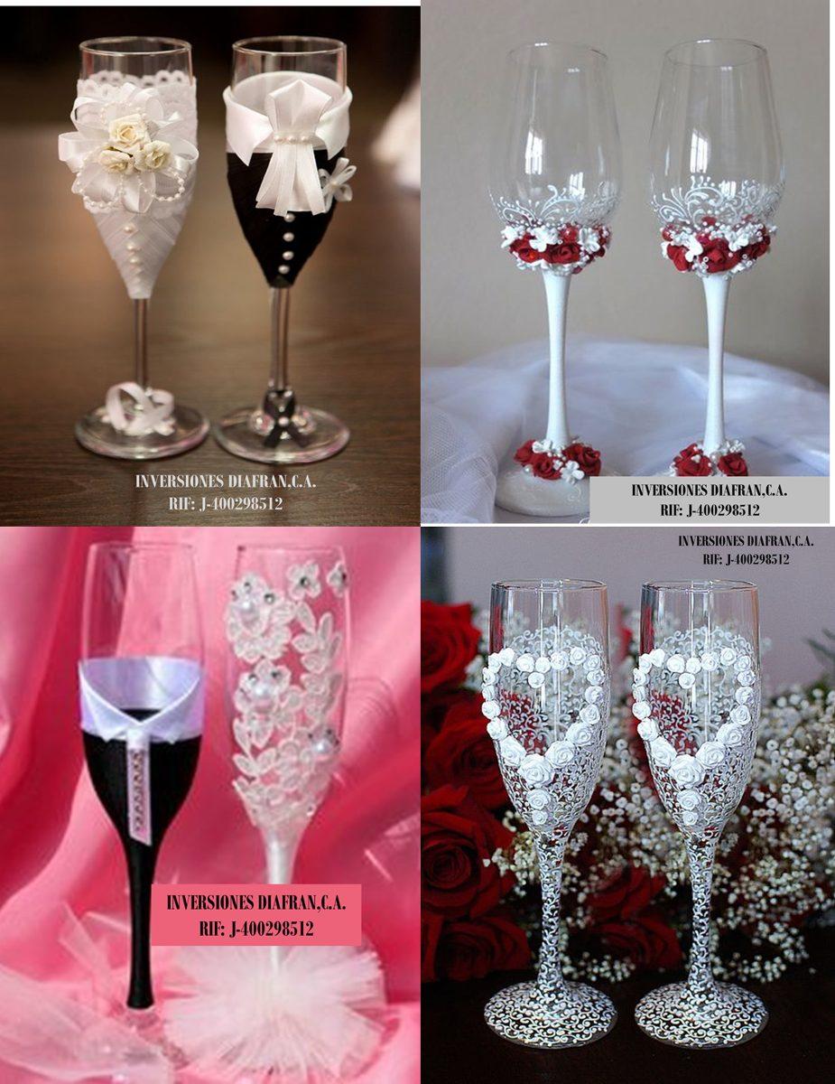 Hermoso Decoracion De Copas Para Matrimonio  Bs 100000
