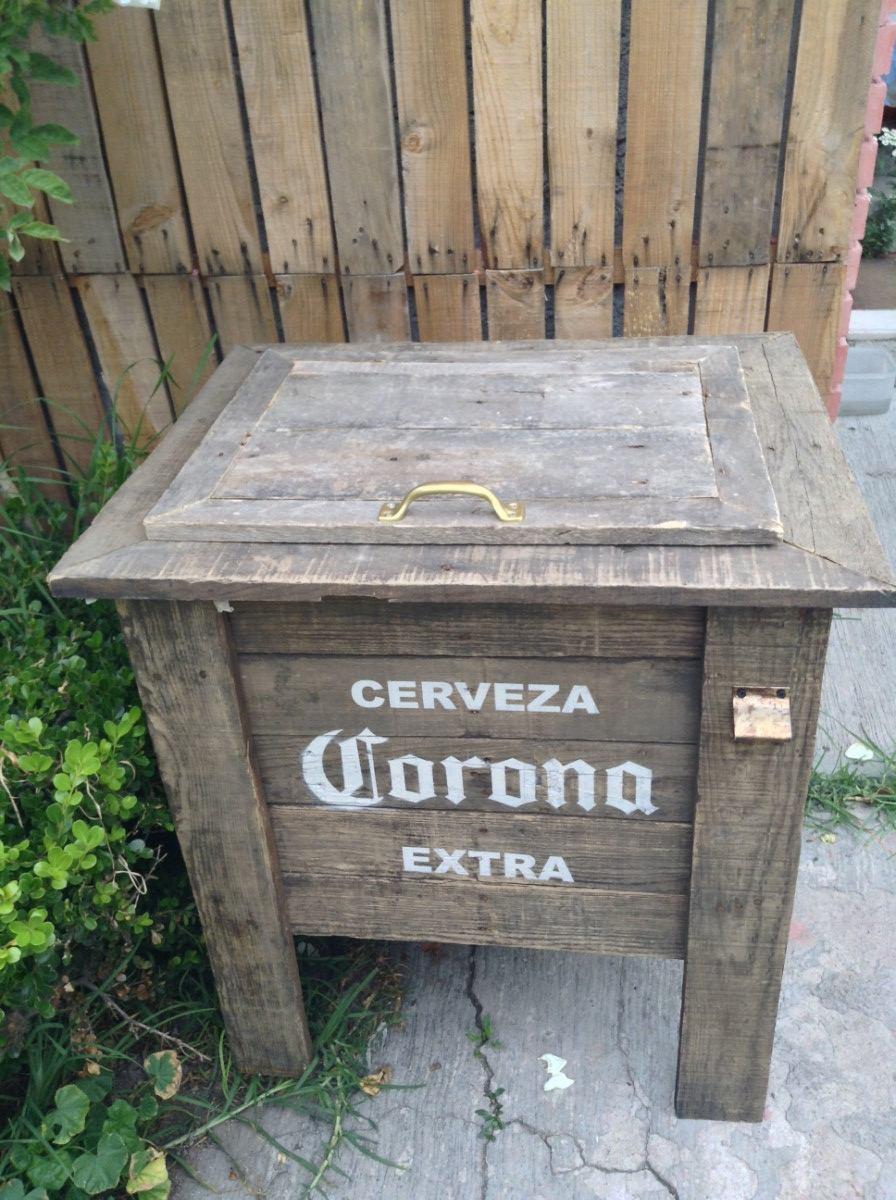 Hielera De Madera Con Tapa   150000 en Mercado Libre