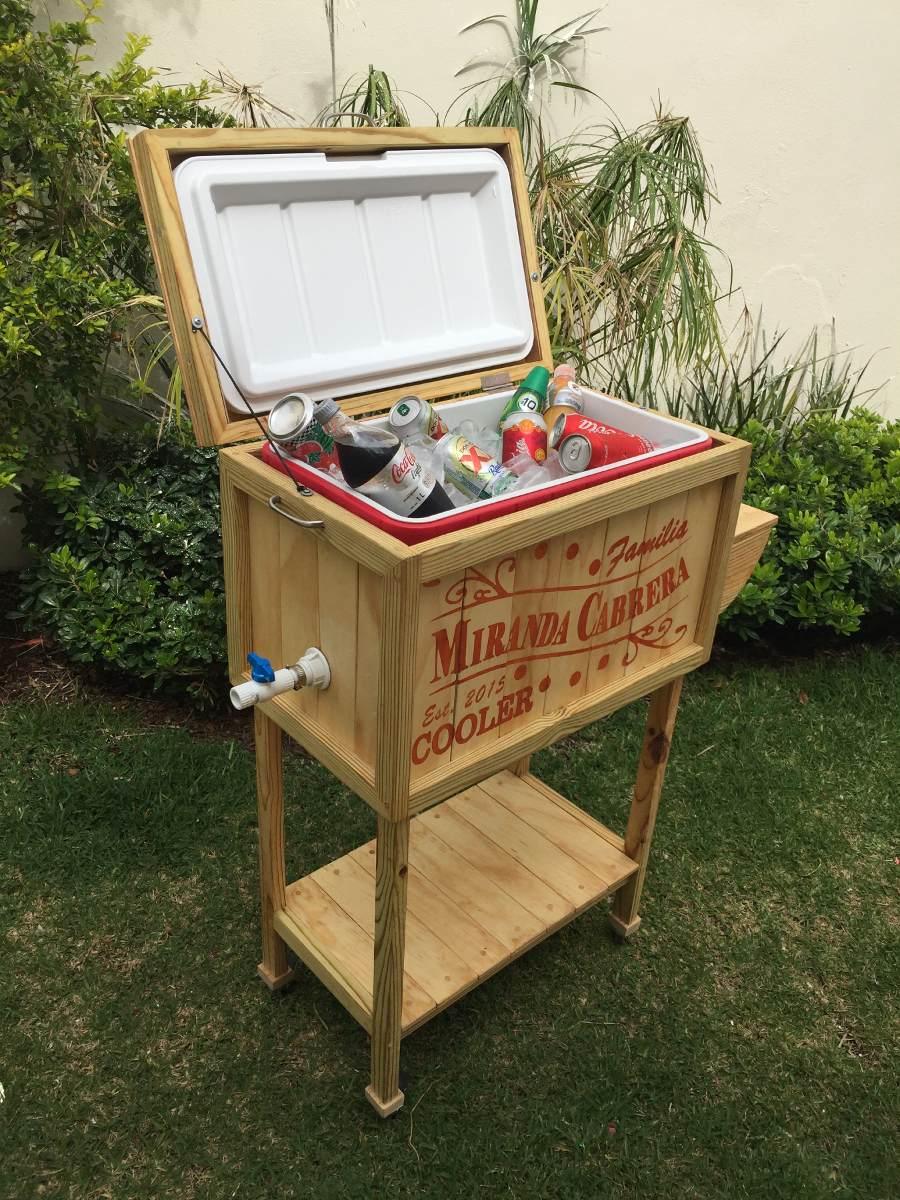 Hielera Sayulita Tiki Cooler Madera   420000 en