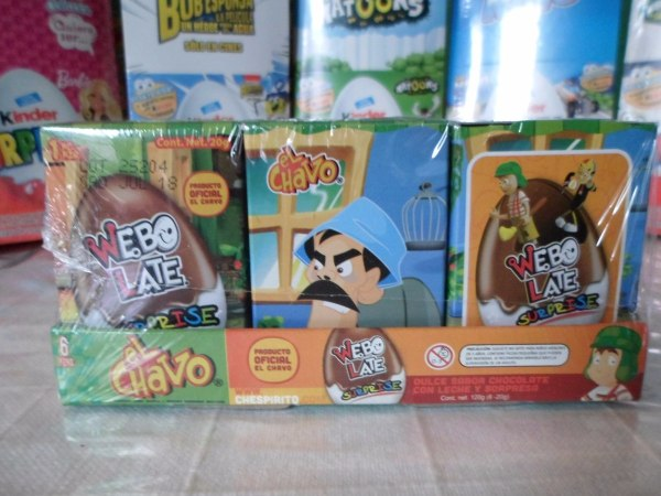 Huevo Sorpresa Tipo Kinder El Chavo Del 8 6pz Chocolate