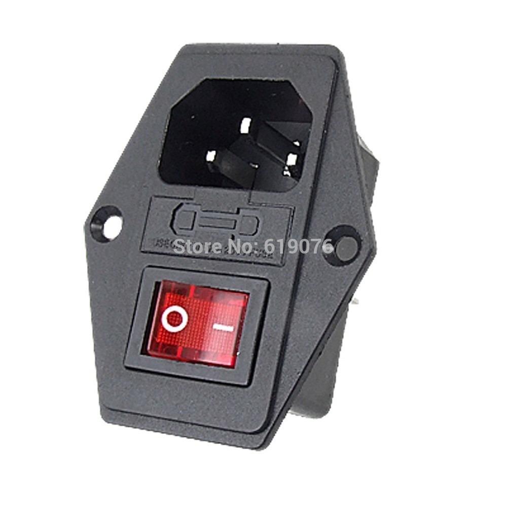 110 Volt Fuse Box Interruptor Luz Piloto Porta Fusible Toma Corriente