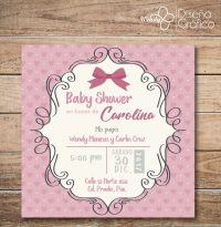Invitacion Baby Shower Para Nia