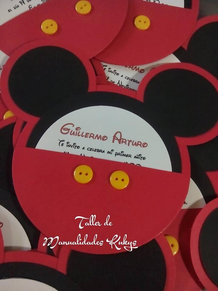 Invitaciones De Bautizo Mimi Mause Mickey   1950 en Mercado Libre