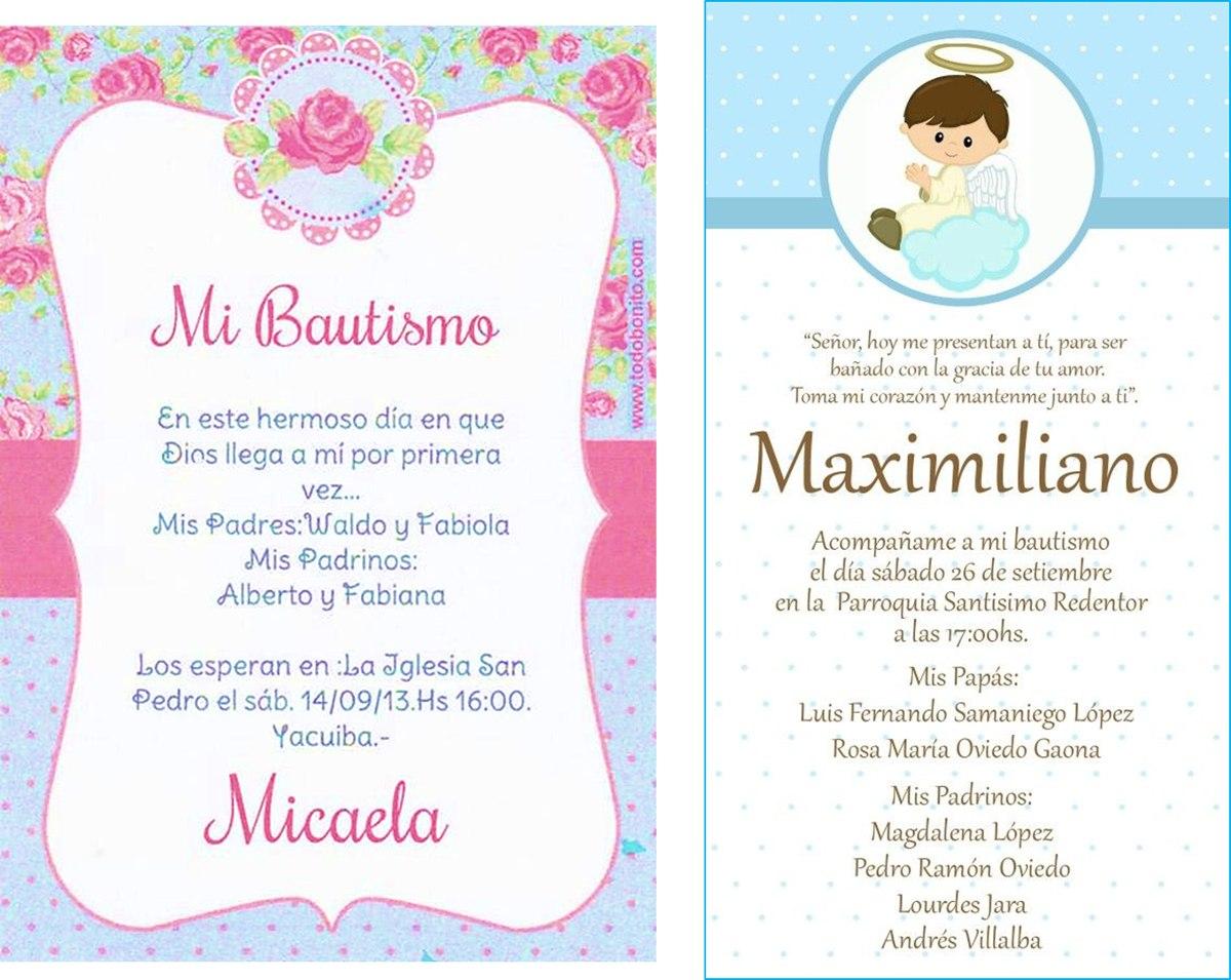Invitaciones Digitales Bautizo  Usted Imprime   9990 en Mercado Libre