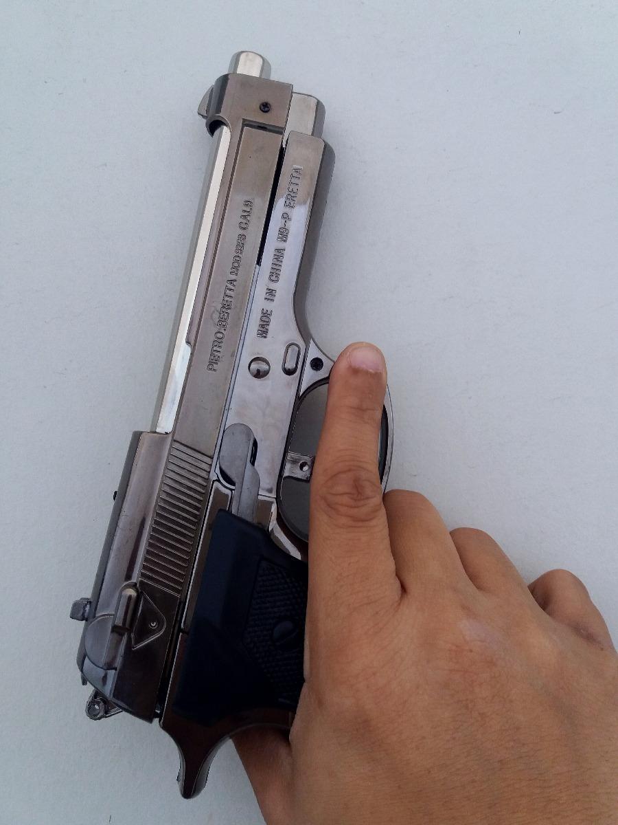 Isqueiro Pistola Beretta M92fs Slide Ferrolho Mvel