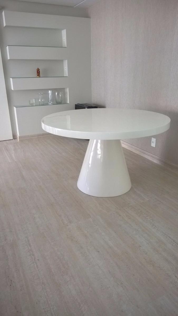 Mesa De Jantar Redonda Em Resina Branca Para 6 Lugares  R 235000 em Mercado Livre