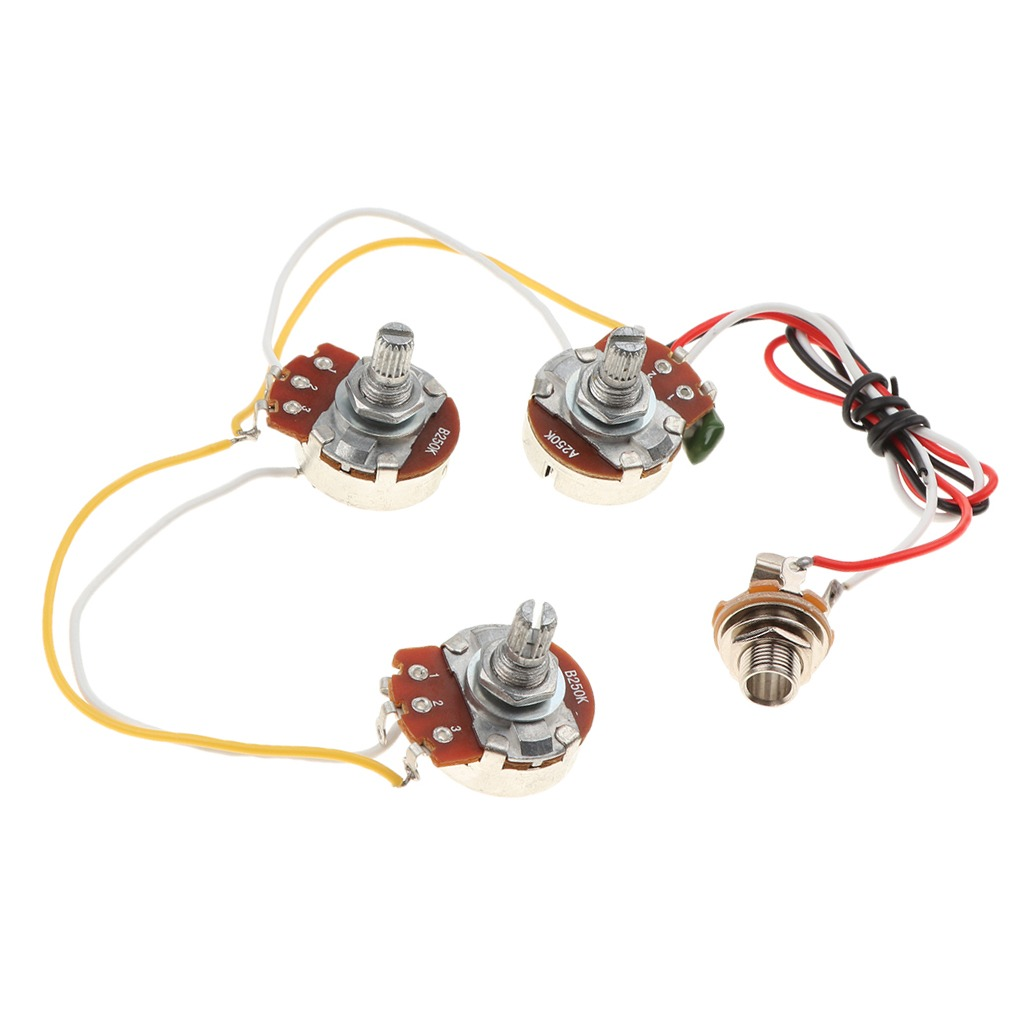 hight resolution of jazz bass circuit wiring kit tone volume a250k b250k potenti cargando zoom