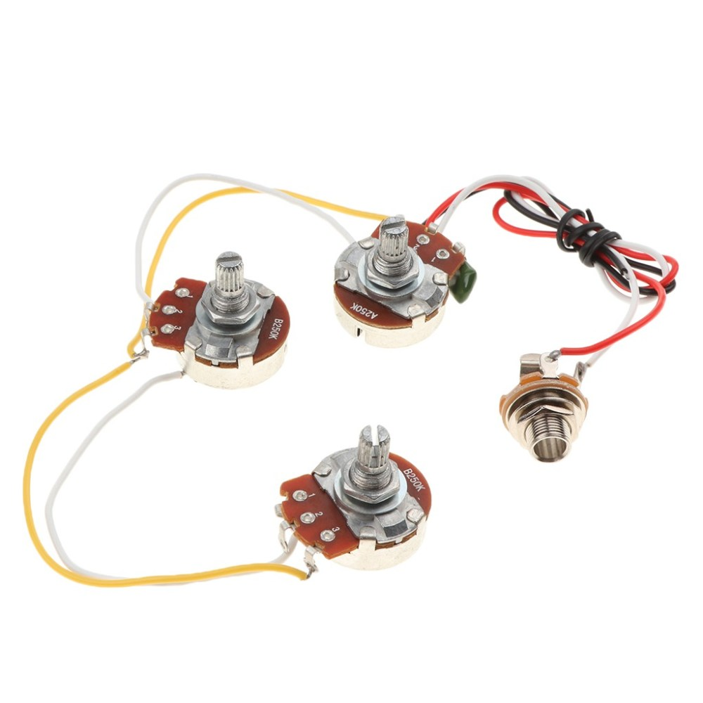 medium resolution of jazz bass circuit wiring kit tone volume a250k b250k potenti cargando zoom