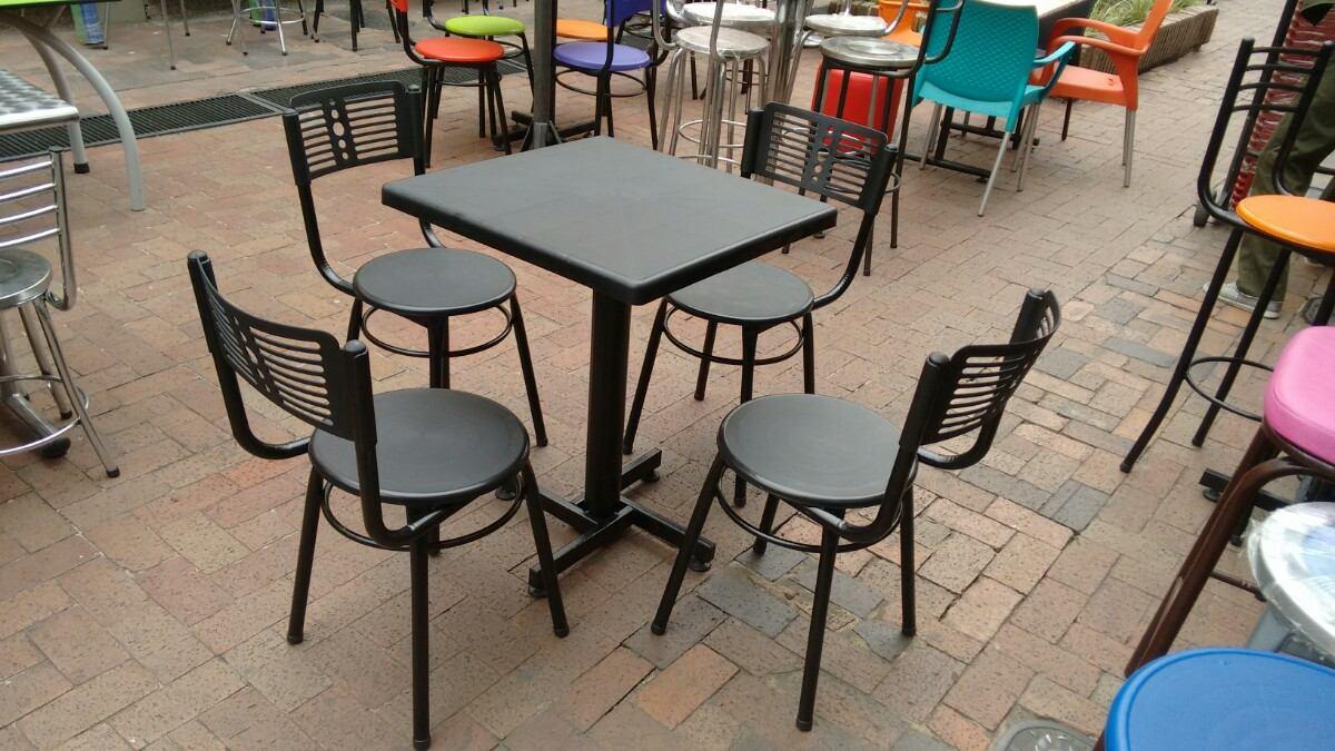 Juego 4 Sillas Karla Y Mesa Plastico Para Restaurante Y Bar   115000 en Mercado Libre