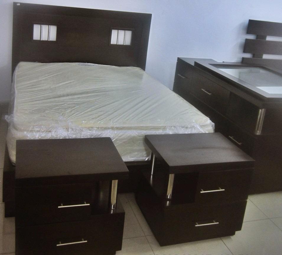 Juego De Habitacion Majetad Moderno En Caoba   7999500