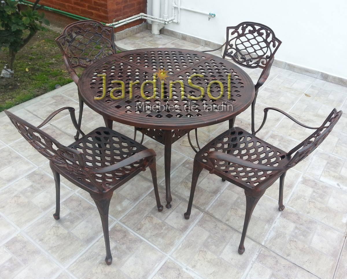 Juego De Jardn En Fundicin De Aluminio Modelo Chateau   1484900 en Mercado Libre