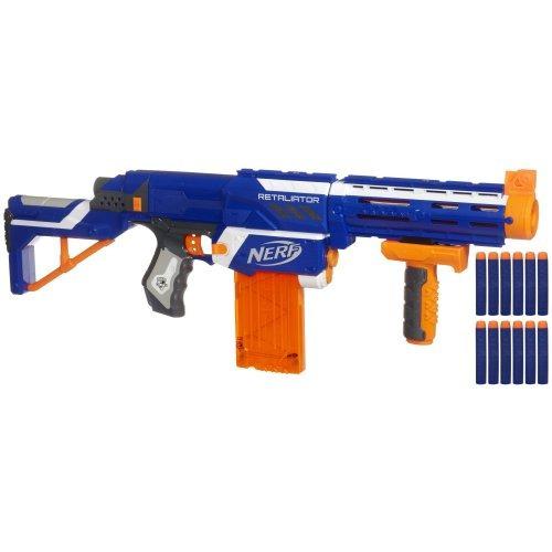 Juego Pistola Nerf N Strike Elite Retaliator Azul
