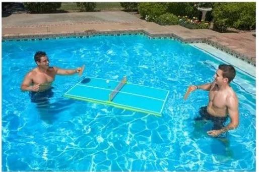 Juguete Mesa De Ping Pong Acutica Flotante Piscina  H