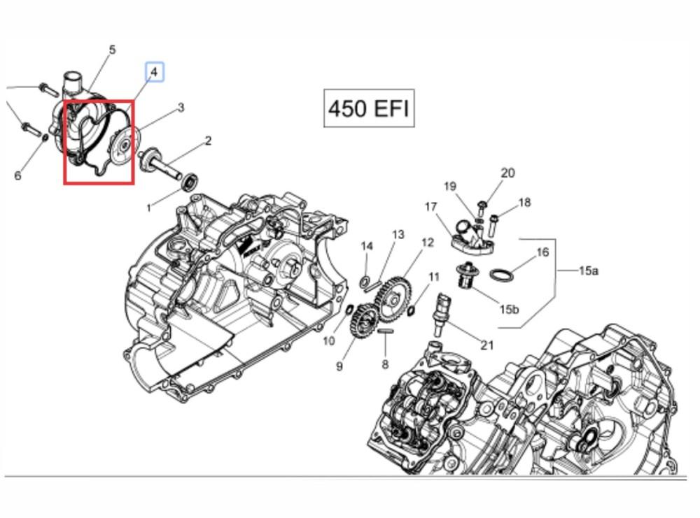 medium resolution of junta borracha motor quadriciclo outlander can am 400 450 carregando zoom
