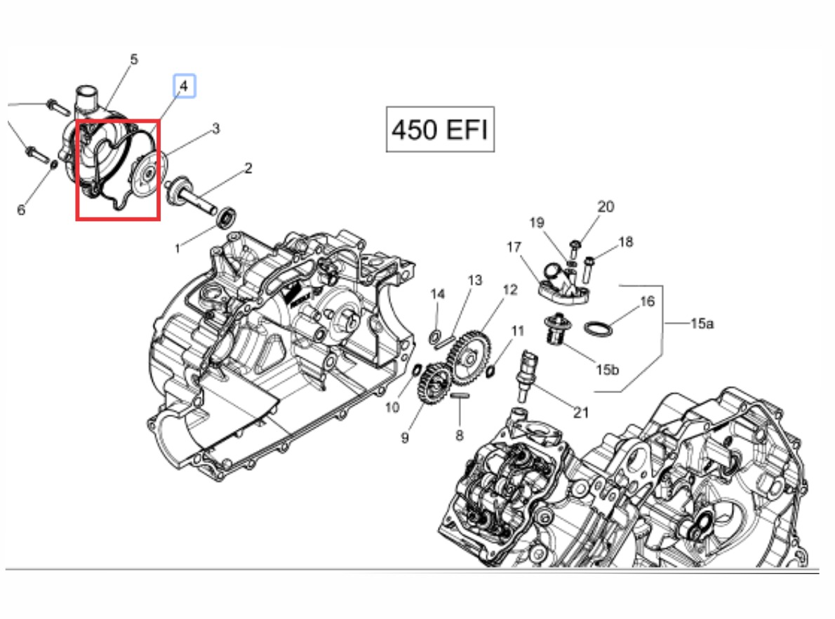 hight resolution of junta borracha motor quadriciclo outlander can am 400 450 carregando zoom