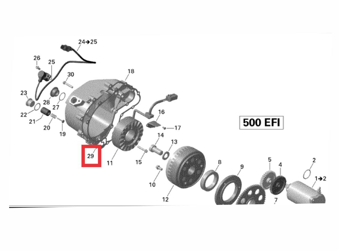 hight resolution of junta magneto motor quadriciclo utv canam outlander renegade carregando zoom