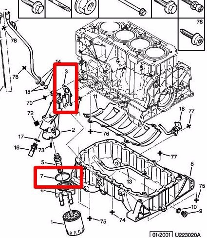 2 Juntas Trocador Calor Óleo Motor Citroen Xsara Picasso 2