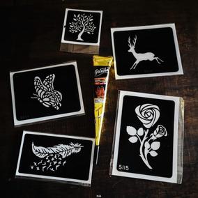 Plantillas Metalicas Para Tatuajes Temporales Y Mas En Mercado Libre