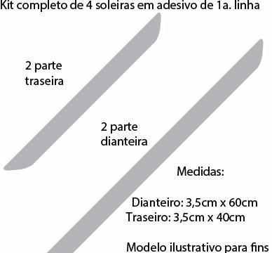 Kit Adesivo Protetor Soleira 4 Portas Carro M3 Fiat Palio