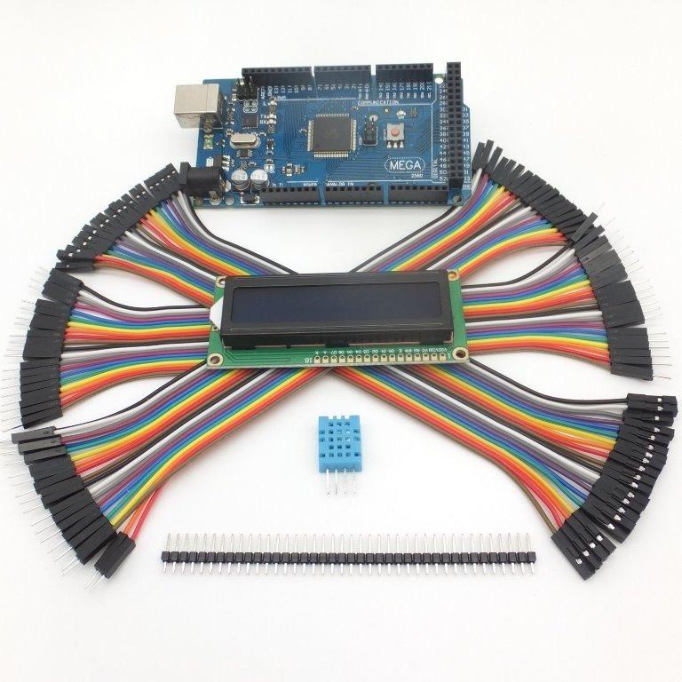 Kit Arduino Mega Plus: Cable Usb + Dupont + Dht11 + Lcd 16x2 - $ 558.00 en Mercado Libre