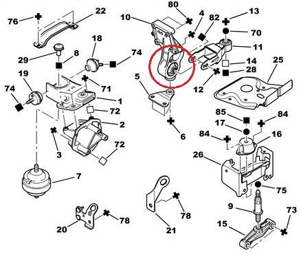 Kit Completo Calço Coxim Motor Câmbio 206 207 Hoggar