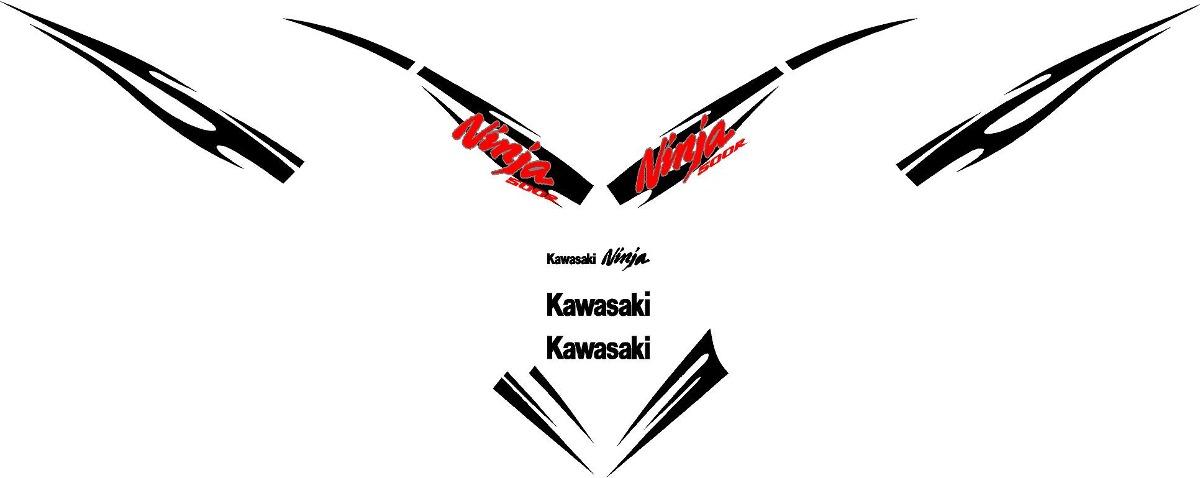Kit De Calcomanias Para Moto Kawasaki Ninja 500 Ex500 08