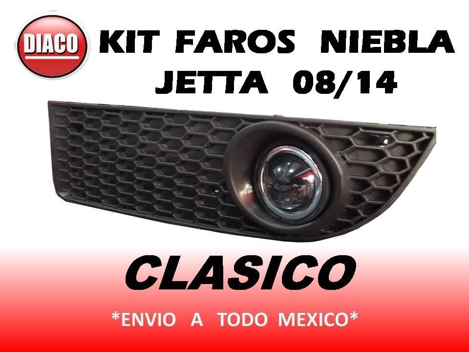 Kit Faros Niebla Jetta Clasico Lupas Y Rejillas Accesorios