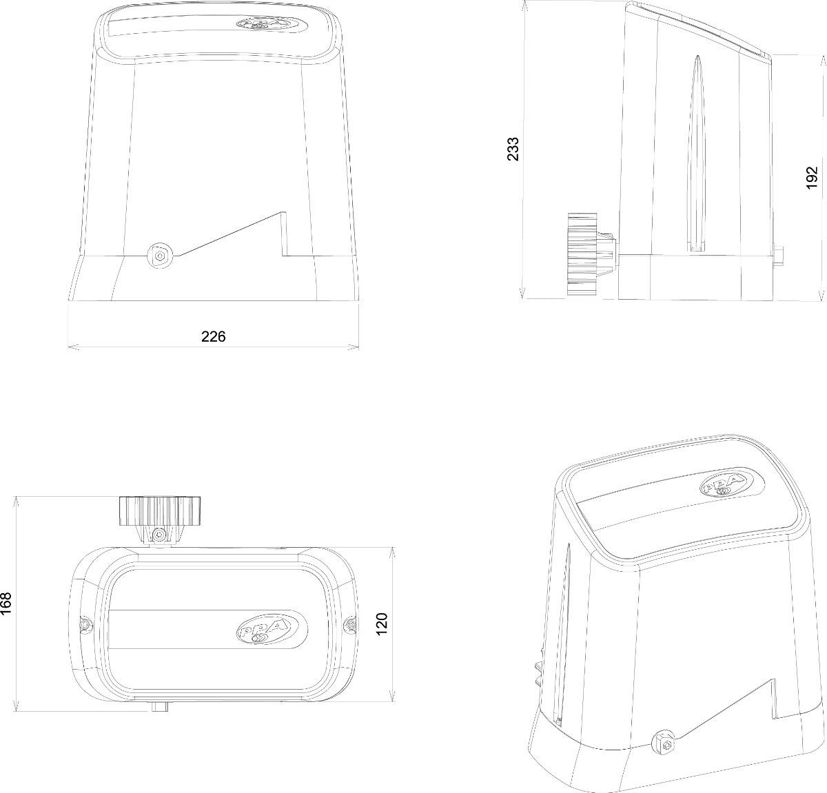 Kit Motor Portao Automatizador Deslizante Dz Home 1 4 Hp
