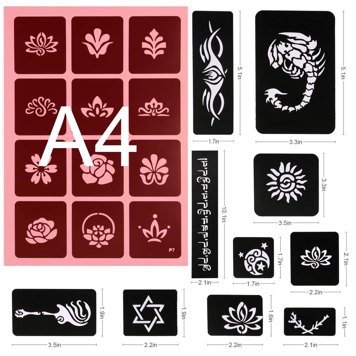 Konsait 291pcs Tatuajes Temporales Plantillas 20 Hojas Niña